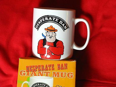 super FATHERS DAY GIFT Dandy Desperate Dan Giant Mug HUGE!! Boxed 1st issue 2008