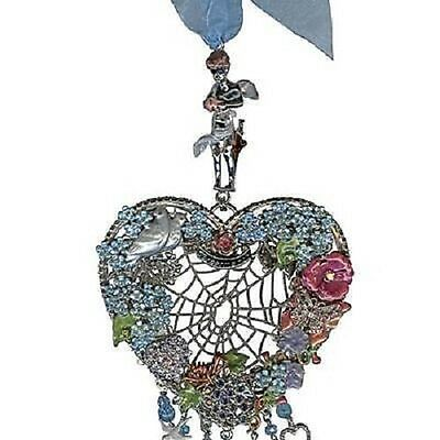 New Kirks Folly ~~Very Rare~~~  Forget Me Not Wind Chime Silvertone