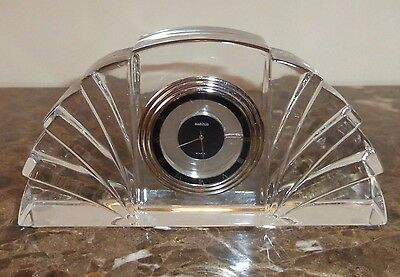 Marquis by Waterford Art Deco Style Desk Mantel Clock