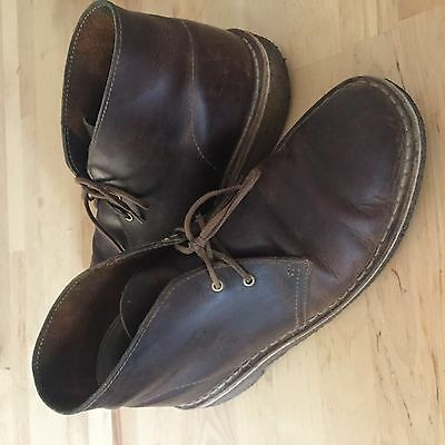 Chaussures homme Clarks Desert boots cuir Marron taille 41
