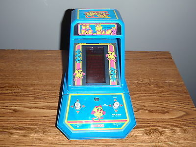 Coleco Ms. Pac-Man Electronic Handheld Tabletop Game Midway 1983 Model 2395