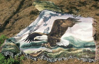 Majesty ~ American Bald Eagle Tapestry Afghan Throw