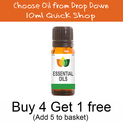10ml Essential Oil - 100% Pure & Natural - Choose Fragrance - Aromatherapy MNG