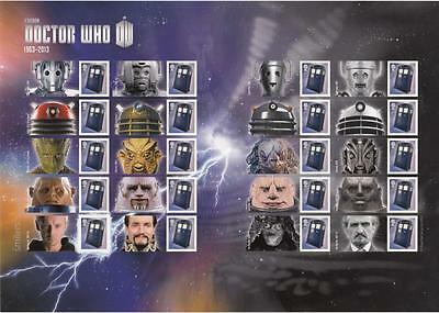 Gb Doctor Who Smilers Sheet Post Office Fresh