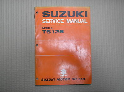 Suzuki TS 125 TS125 TS125 genuine workshop service manual April 1977 SR2800 USED