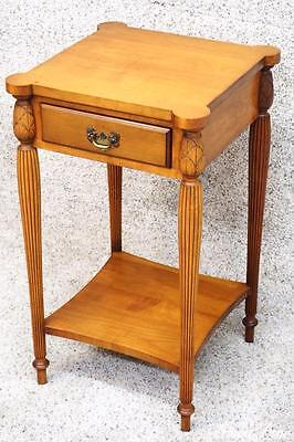 Superior Quality Rock Maple Nightstand Side End Lamp Table Antique Night Stand