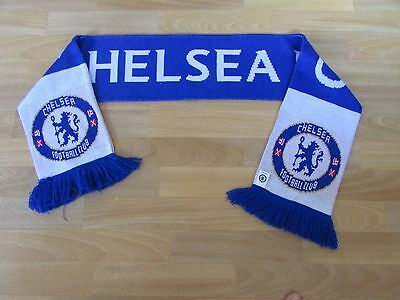 Official Chelsea FC Blue and White FOOTBALL Scarf