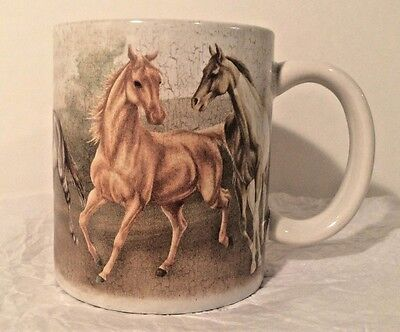 "WILD HORSES  COLLECTIBLE COFFEE MUG  ""Beautiful Wild Horses""  by REVELATIONS"
