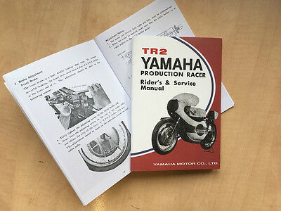 Yamaha TR2 Owners Manual - reproduction TZ, TZ350 , GYT *Parts Available*