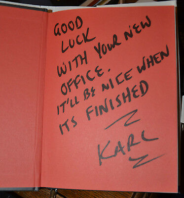 KARL PILKINGTON 1st edition KARLOLOGY book SIGNED AUTOGRAPHED Ricky Gervais 2008