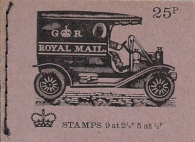 1972 GB QEII 25P STITCHED STAMP BOOKLET SG DH 45 No 4 MAIL VAN APRIL ISSUE MNH