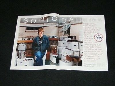THURSTON MOORE magazine clippings magazine interview SONIC YOUTH Sonic Dad