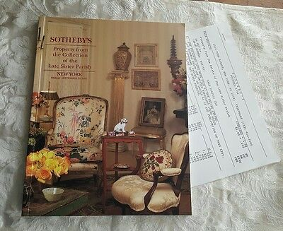 Property The Collection Of The Late Sister Parish Sotheby's Catalog 1995 auction