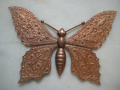 French Art Nouveau Ornate Butterfly Brass Stamping: Original Authentic Vintage