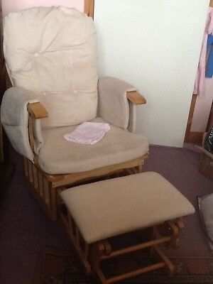 Baby weaver recline glider rocking chair with foot stool