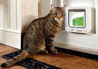 SureFlap Battery Operated Microchip Recognition Cat Flap White 32 Chip Memory