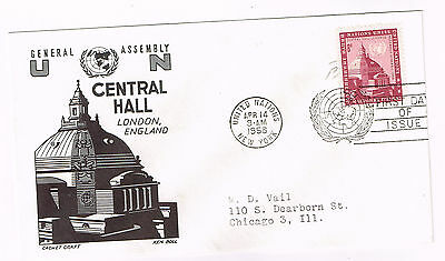 Worldwide Cover Un Cover Fdc 1958 Central Hall London England Addressed Lot 1