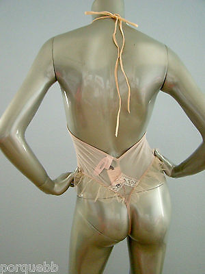 Victorias Secret Designer Collection Nwt One Piece Nude Thong Teddy Medium M