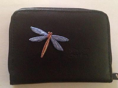 Dragonfly Design Leather Wallet Credit Card ID Holder Dragonflies