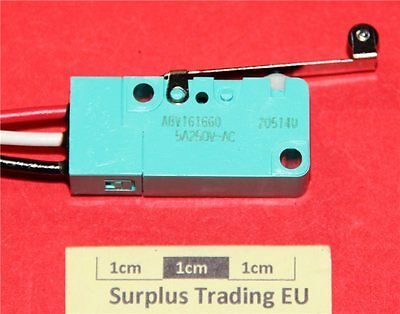 Panasonic ABV161660 SPDT Roller Lever Microswitch 5A@250Vac IP67