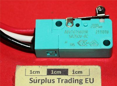 Panasonic ABV1615603R SPDT Short Roller Lever Microswitch 5A IP67