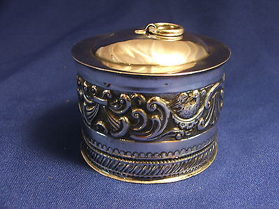 Antique English  Hallmarked Victorian Sterling Silver Repousse Tea Caddy 1862