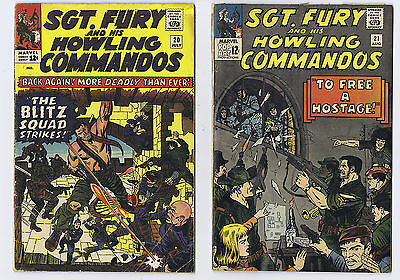 SGT Fury and his Howling Commandos group - 11 books