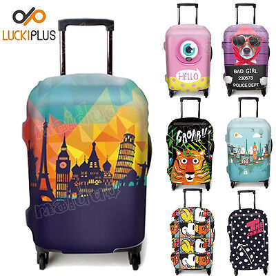 Elastic Travel Luggage Box Cover Creative Suitcase Protector Dust-proof 7 Colors