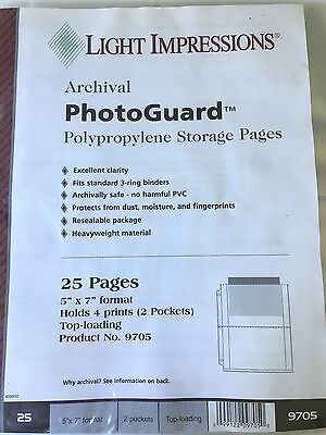 "Light Impressions Page Protectors , 9 5/8"" x 11 3/8"", Holds (4) 4.5"" x 7"" photos"
