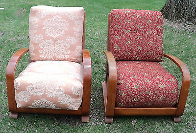 Mid-Century Modern Club Chairs- A Pair Possibly Herman Miller / Gilbert Rhode
