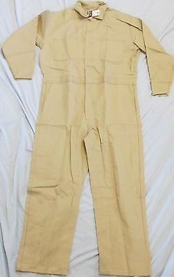 Big Bill Fr Flame Resistant Indura Tan Coveralls, Size 48 Regular, New With Tags