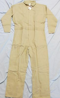 Big Bill Fr Flame Resistant Indura Tan Coveralls, Size 44 Regular, New With Tags