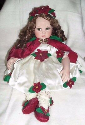 2005 Marie Osmond Four Seasons Flowers Poinsettia Limited Edition Porcelain Doll