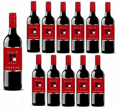 Block Nine Shiraz Red Wine (12x750ml) – Free Shipping