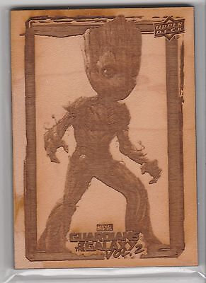 2017 Upper Deck Guardians of the Galaxy Vol. 2 #GR6 Groot's Roots Wood