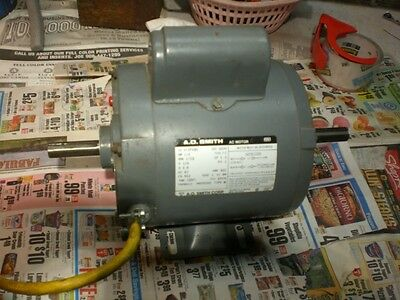 Electric motor A.O.Smith1/2 hp 3.8 amp 115volt model #312p480 single phase