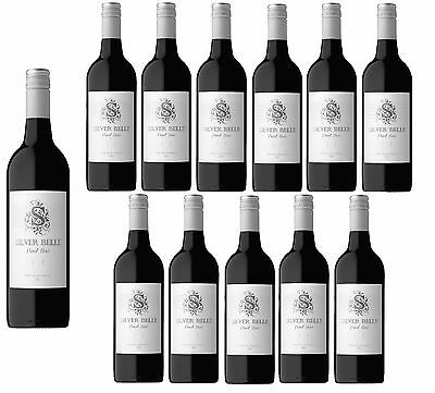 RRP$199! Silver Belle Pinot Noir Red Wine 2016 (12x750ml)- Free Shipping