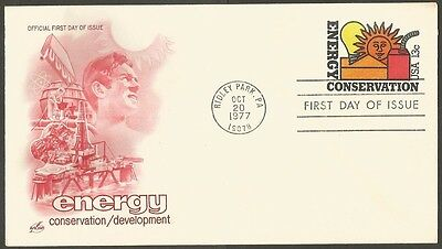 Us Fdc 1977 Energy Conservation 13C Stamp Ac First Day Of Issue Cover Ridley P