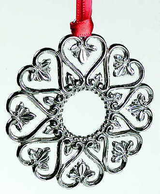 Lunt ANNUAL WREATH STERLING ORNAMENT 2002 2619667
