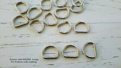WELDED Metal d-rings 15mm, 3mm thick top quality!