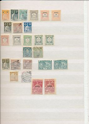Early Portugal stamp collection colonies Angola Azores Macau Inhambane on page