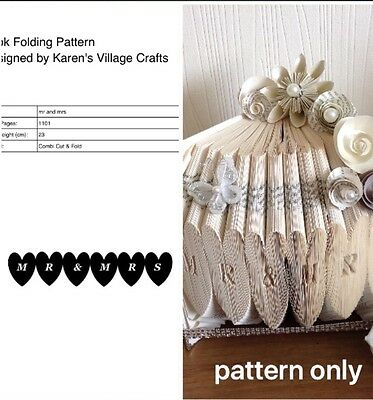 Book Folding Pattern ( Combi Cut And Fold Only ) Mr & Mrs