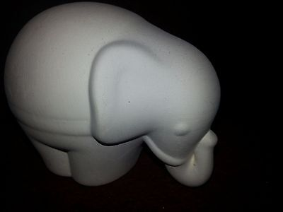 Ceramic bisque Elephant. Approx 110mm long. Ready to paint or glaze.