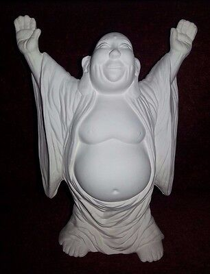 Ceramic bisque Buddha. Approx 170mm high. Ready to paint or glaze.