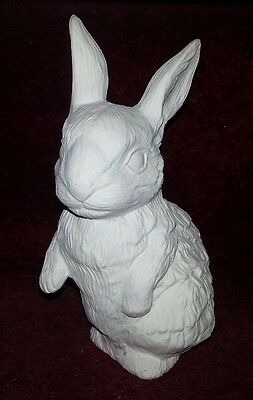 Ceramic bisque Rabbit. Approx 170mm tall. Ready to paint or glaze.