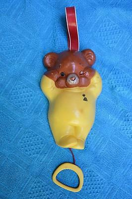 Collectable Vintage Fisher Price Toy. BEAR LULLABY MUSIC BOX. RETRO Music Toy