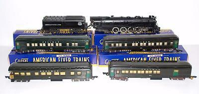 1948 American Flyer Set 4732 Union Pacific 332 AC 4-8-4 +4 Passenger cars UP grn