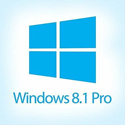Windows 8.1 Professional 64 bit instal disc + License key for activation