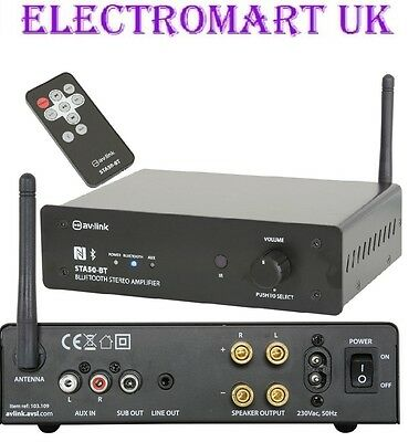 Bluetooth Digital Stereo Amp Amplifier 170W Remote Control Line Input Output Sub