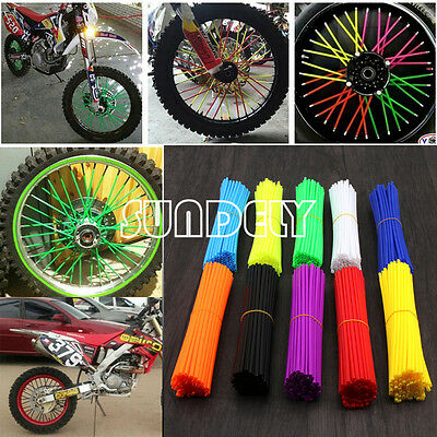 Wheel Spoke Wraps Kit Rims Skins Covers Guard Protector Motocross Pit Dirt Bike